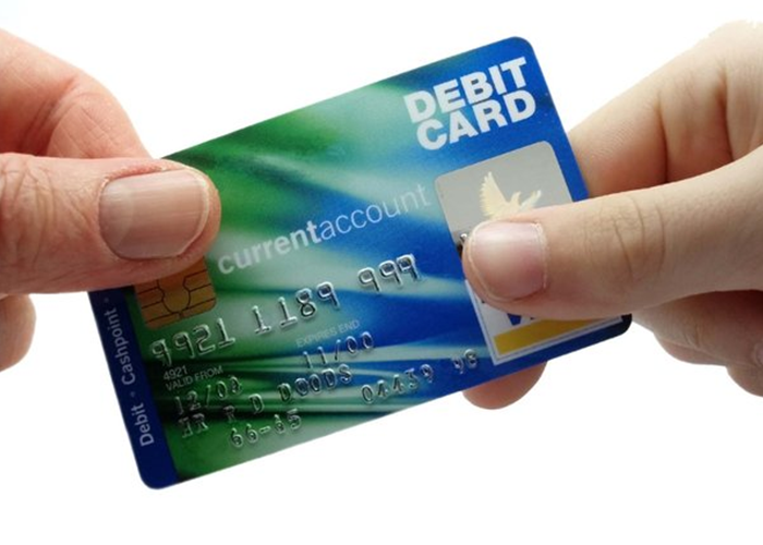 Money, credit card and debit card