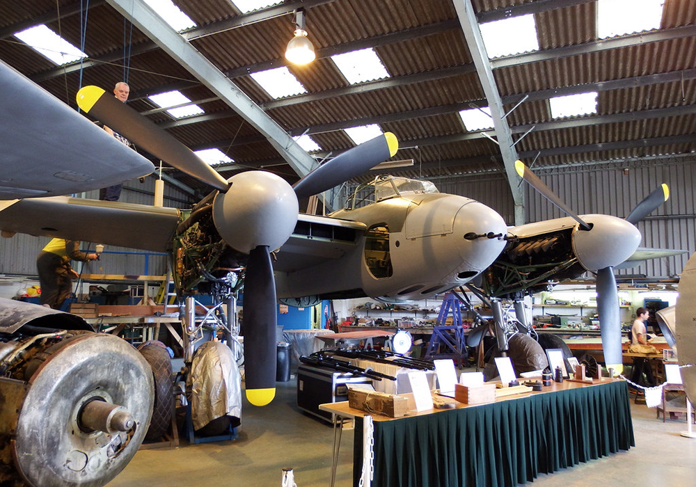 The aircraft museum is also a workshop